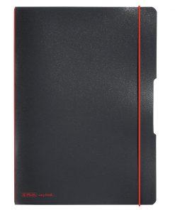Caiet Dictando + Patratele, Herlitz My Book Flex, A4 2 x 40 file, Negru