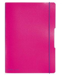 Caiet dictando + patratele Herlitz My Book Flex, A4, 2 x 40 file, Roz