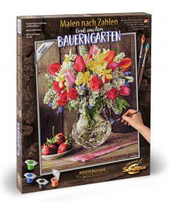 Kit pictura pe numere schipper vaza cu flori
