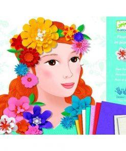 Atelier colaj flori - Set creativitate si indemanare