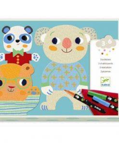 Atelier de desen pentru copii Cuties - Set creativitate si indemanare