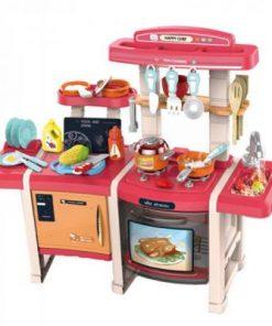 Bucatarie multifunctionala dubla pentru copii Alibibi, sunete si lumini si accesorii incluse 28978