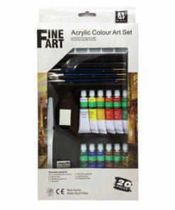 Set culori acrilice si accesorii Fine Art Marabu