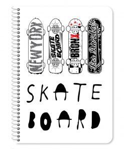 Caiet dictando cu spirala Must Skateboard, 17 x 25 cm