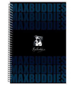 Caiet dictando cu spirala Max Buddies A4, 64 file