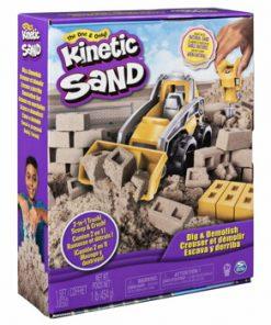 Kinetic Sand, set pentru constructii 2 in 1
