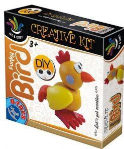 Funky bird - creative kit (plastelina)