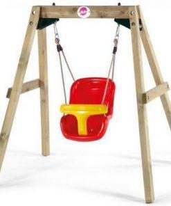 Leagan bebelusi din lemn Baby Swing Plum 28186