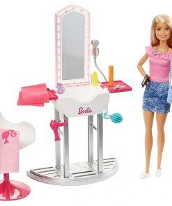Set Barbie by Mattel Estate Salon de infrumusetare cu papusa si accesorii