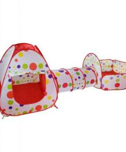 Set cort de joaca pentru copii 3 in 1 Alibibi cort, tarc si tunel 28972