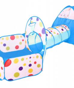 Set cort de joaca pentru copii 3 in 1 Alibibi cort, tarc si tunel albastru 28971