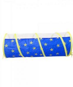 Set cort de joaca pentru copii 3 in 1 in forma de castel Alibibi albastru 28973
