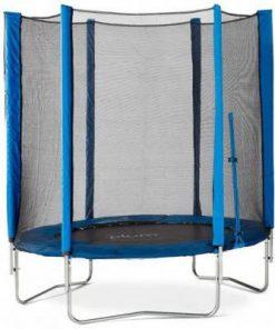 Set trambulina cu plasa de protectie Junior Blue 140 cm PLUM 28338