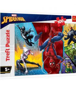 Puzzle Trefl, Spiderman, Cu susul in jos, 100 piese