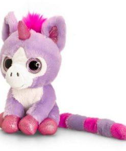 Unicorn de plus Mov cu ochi stralucitori 14 cm Keel Toys