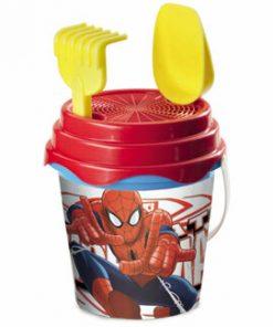 Set galeata 17cm si stropitoare-Spiderman
