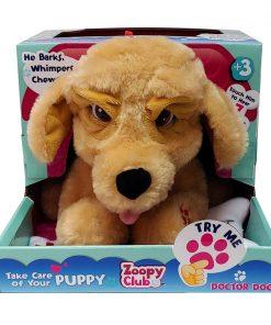 Jucarie de plus interactiva Zoopy Club Doctor Dog