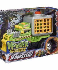 Masinuta cu lumini si sunete Teamsterz, Monster Dino Escape, Verde