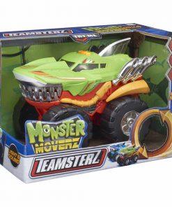 Masinuta cu lumini si sunete Teamsterz, Monster Moverz Robo Shark, Verde