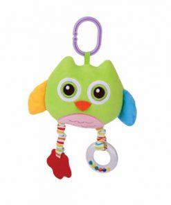 Jucarie zornaitoare din plus, Owl, 29,5 cm, cu oglinda, Green