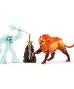 SCHLEICH Lupta pentru arma suprema - Monstrul gheturilor vs. Leul de foc