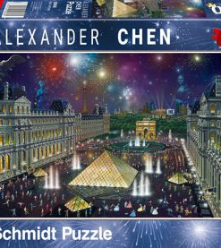 Puzzle Focuri de artificii la Luvru, 1000 piese