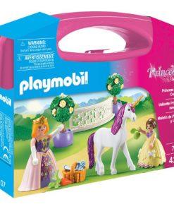 Set de Constructie Portabil Printese si Unicorn - Princess
