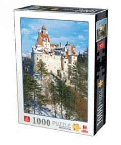 Puzzle Romania - Castelul Bran Iarna, 1000 piese