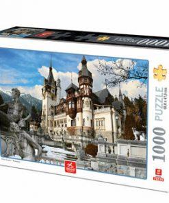 Puzzle Romania - Castelul Peles Iarna, 1000 piese