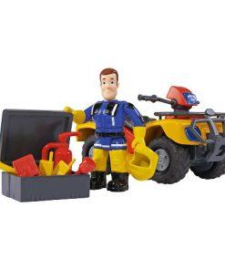 Set ATV Fireman Sam cu Figurina Sam si Accesorii