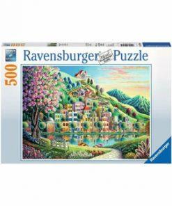 Puzzle Ravensburger Parcul Blossom, 500 piese