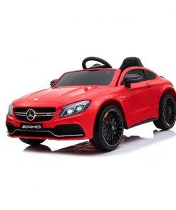 Masinuta electrica cu telecomanda Mercedes Benz C63, Rosu