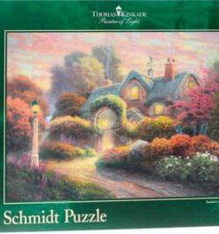Puzzle Casuta cu trandafiri, 1000 piese