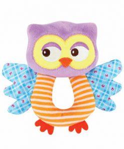 Jucarie zornaitoare din plus, Owl, 18 cm