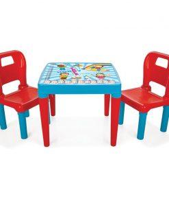 Masuta cu doua scaunele Study Table Blue