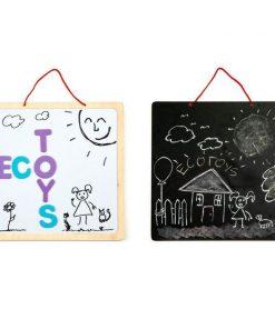 Tabla educationala 3 in 1 cu litere magnetice ecotoys esc-w-018a