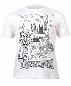 Tricou de colorat cu markere lavabile - Transilvania