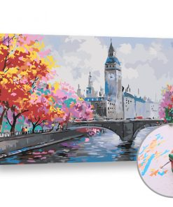 Pictura după numere TOAMNA √éN LONDRA - Level Medium (set pentru pictura)