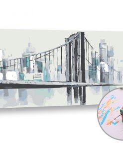 Pictura după numere PODUL DE PE RĂU - Level Starter (set pentru pictura)
