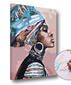 Pictura după numere PORTRET AFRICANA- Level Starter (set pentru pictura)