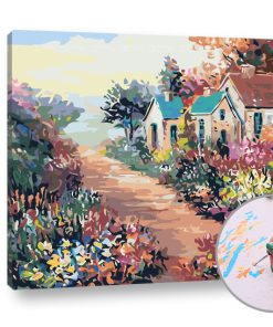 Pictura după numere PEISAJE COLORATE - Level Profi (set pentru pictura)