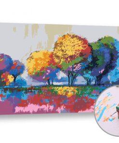 Pictura după numere NATURĂ COLORATĂ - Level Medium (set pentru pictura)