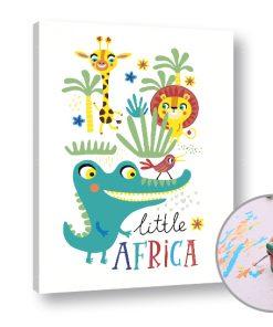 Pictura după numere LITTLE AFRICA - Level Starter (set pentru pictura)