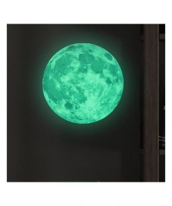 Autocolant fosforescent Ambiance Real Moon, ⌀ 30 cm