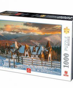 Puzzle Romania - Castelul de Lut Valea Zanelor, 1000 piese