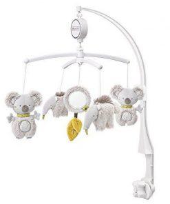 Carusel muzical mobil Fehn Koala si prietenii, jucarie pentru patut, jucarie muzicala, oglinda