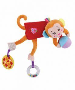 Jucarie zornaitoare din plus, Hug me Monkey, 33 cm