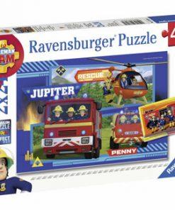 Puzzle Echipa Pompier Sam, 2x24piese