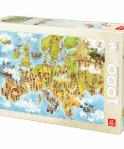 Puzzle Cartoon Map - Europe, 1000 piese