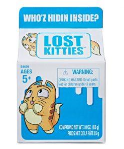 Figurina surpriza in cutie de lapte Lost Kitties